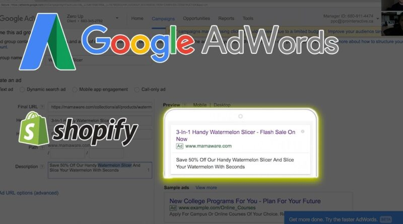 SHOPIFY + GOOGLE ADWORDS = $10K PER MONTH STRATEGY