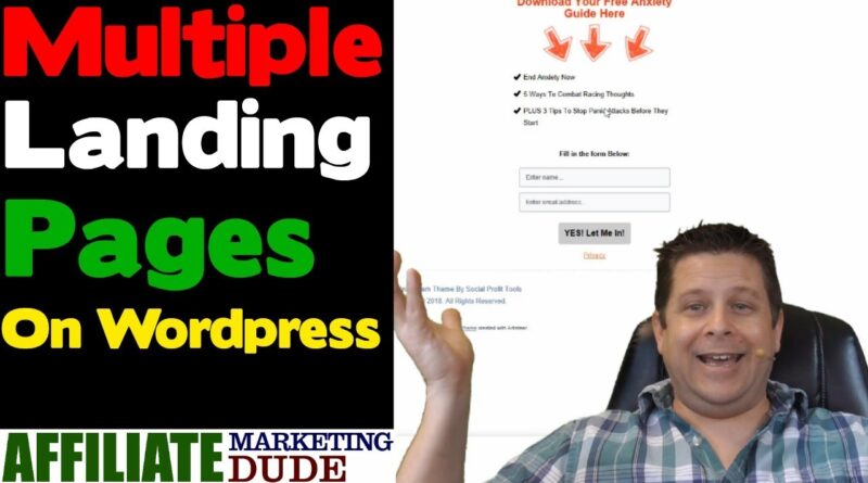 How to Create a Multiple Landing Pages on WordPress in Minutes – Stunningly Simple Tutorial